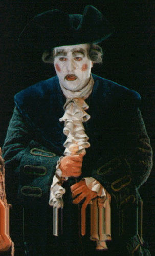 As Don Magnifico at the Vienna Volksoper in a production by Achim Freyer.