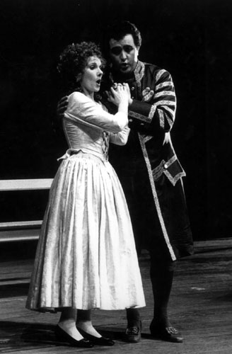 As Figaro at the Vienna Volksoper with Edith Lienbacher as Susanna.