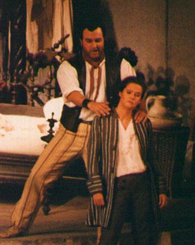 As Figaro at the Vienna State Opera with Angelika Kirchschlager as Cerubino.