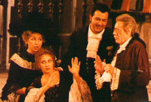 As Figaro at the Vienna State Opera with Rudolf Mazzola as Bartolo and Andrea Rost as Susanna.