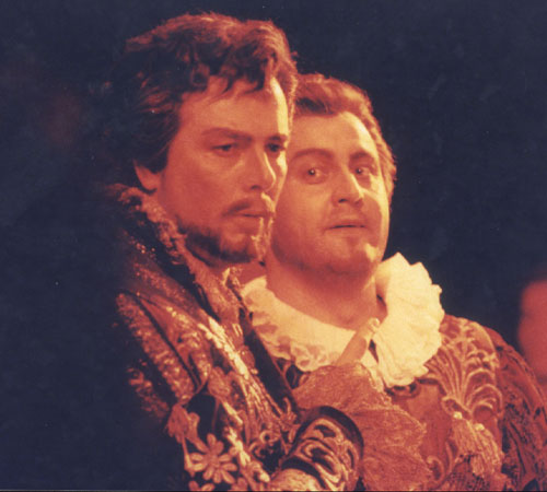As Leporello at the Vienna State Opera with Ferruccio Furlanetto as Don Giovanni.