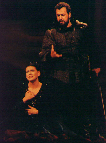 As Enrico in Marseille with his wife Kathleen Cassello as Lucia di Lammermoor.