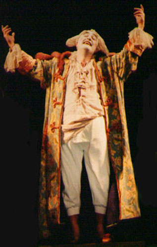 As Don Magnifico in a production of Cenerentola by Achim Freyer at the Vienna Volksoper.
