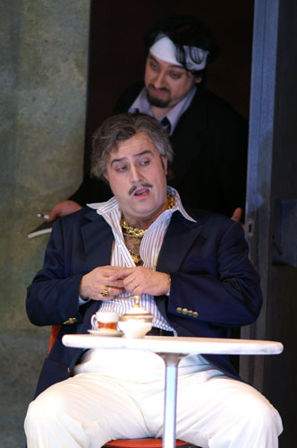 As Don Geronio in Hamburg with George Petean as Prosdocimo.